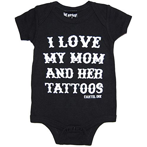 (Cartel Ink I Love My Mom and Her Tattoos One Piece Black)