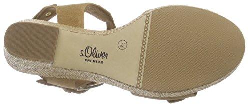 s.Oliver 28318 - Sandalias con plataforma Mujer Marrón - Braun (CAMEL 310)