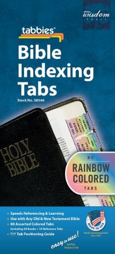 Bible Tab Book - Rainbow Bible Indexing Tabs Old & New Testament