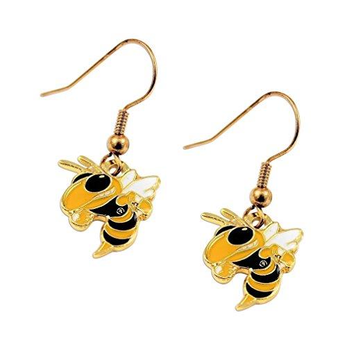 NCAA Georgia Tech Yellow Jackets Buzz Logo Dangle Earrings Earrings Georgia Tech Yellow Jackets