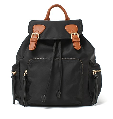 PU Handle For With Bags Brown Backpack Black Casual Women Water Fashion Repellent Purse Designer vxwPxz