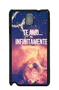 fashion picture hard shell black case for Galaxy Note 4 Infinite Love Picture 4 Protector Lorenzof Case