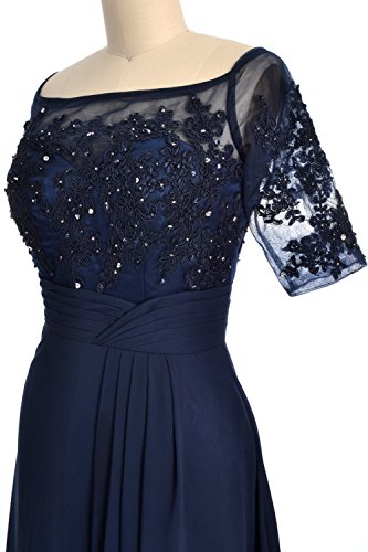 MACloth Women Party Dress Gown of Wisteria Short Off Mother Bride Cocktail Shoulder ABrxACdwq
