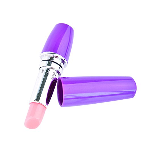 Gentlecarin Womens Sexy Toy Lipstick, Mini Massager Lipstick vibe for Women,  Cordless Therapeutic Vibrating Power (Purple)