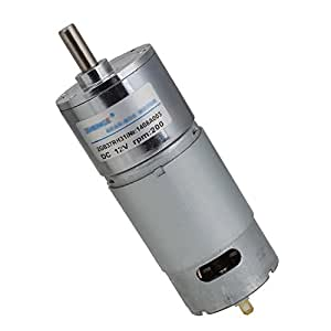 Dn 12v dc 200rpm high torque electric motor low noise gear for Low noise dc motor