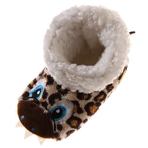 2e396fc8350d Kids Boy Girl Animal House Slipper Soft Warm Winter Plush Non-Skid Indoor Slipper  Shoes