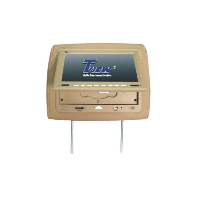 Tview T929DVPL-TN 9-Inch Monitor with DVD Player Built-in Car Headrest (Beige)