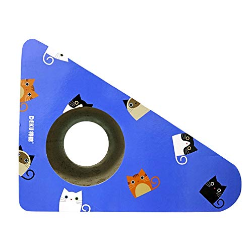 bluee CELINEZL Pet Toys CP427 Triangular Wall bell Corrugated Paper Cat Scratch Board Cat Litter Grinding Claw Toy(bluee) (color   Yellow)