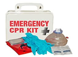 Pac-Kit by First Aid Only 3025 16 Piece Emergency CPR Kit in Weatherproof Plastic Case
