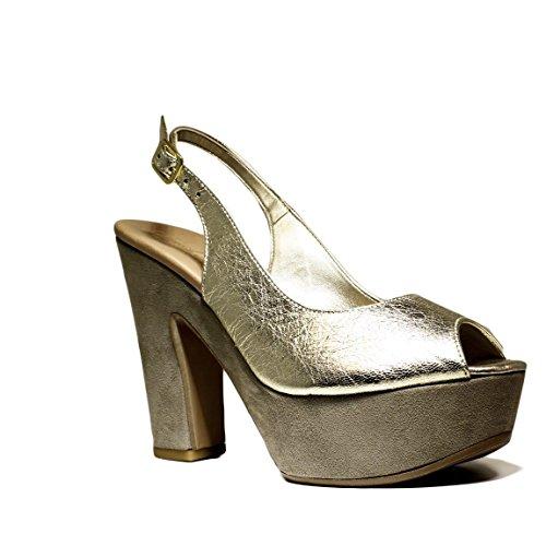 Colección Tacón 2016 Alto Cuero Lam Sandalias Verano Haron Tacón De Mujer Zapatos Oro Primavera P03tc David qvzx7w0