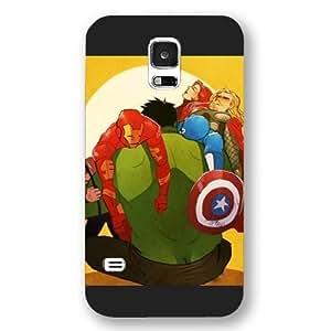 UniqueBox Customized Marvel Series Case for Samsung Galaxy S5, Marvel Comic Hero Hulk Samsung Galaxy S5 Case, Only Fit for Samsung Galaxy S5 (Black Frosted Case)