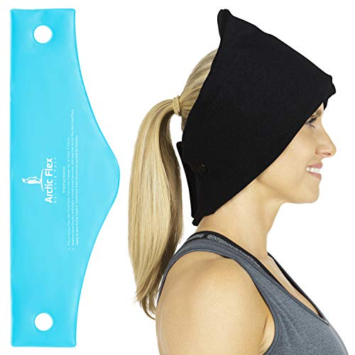 Arctic Flex Headache Relief Ice Pack Hat - Flexible Cold and Hot Gel Migraine Wrap Eye Mask for Head Injuries, Neck, Shoulder Tension Pain - Freeze, Heat Therapy - Kid, ()