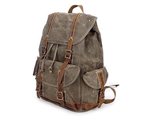 Backpack Brass Wax Impermeabile Crazy Retro Oil Jiurui Viaggio amp; Da Totes Horse Zaino w8qxvg7Tnf