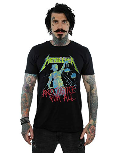 Absolute Cult Metallica Men's Justice Neon T-Shirt Black Medium from Absolute Cult