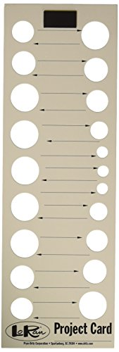 LoRan PN-3P Needlework Project Cards, 3 Count ()