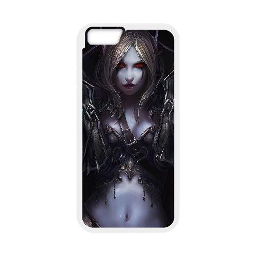 Sylvanas Windrunner coque iPhone 6 Plus 5.5 Inch cellulaire cas coque de téléphone cas blanche couverture de téléphone portable EEECBCAAN08386
