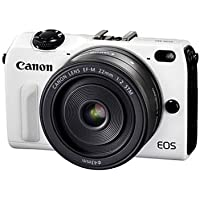 Canon EOS M2 Mark II 18.0 MP Digital Camera with EF-M 22MM f/2 STM Lens (White) - International Version (No Warranty)