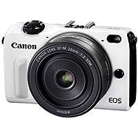 Canon EOS M2 Mark II 18.0 MP Digital Camera with EF-M 22MM f/2 STM Lens (White) - International Version (No Warranty)