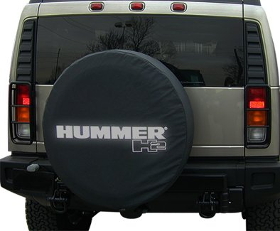 Boomerang 2002-2004 Hummer H2 Soft Tire Cover - Non-reflective - Genuine GM Licensed