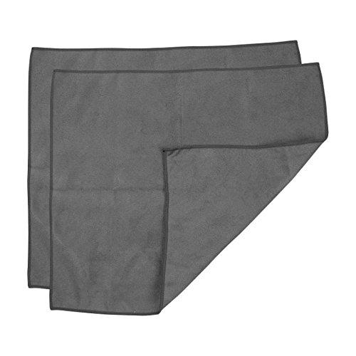 Casabella Microfiber Screen Cloth, Dark Grey, 2 Piece