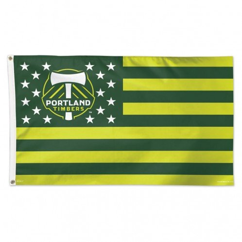 SOCCER Portland Timbers 11203115 Deluxe Flag, 3' x 5'