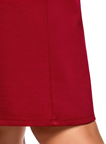 Gonna Rosso Collection Dritta Donna Oodji 4500n Basic Xq7wEXO