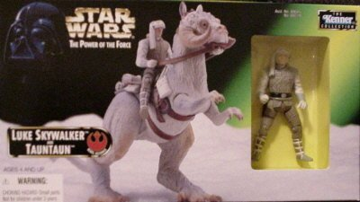 Star Wars Power of the Force Beast Pack Luke Skywalker and Taun Taun Action F...