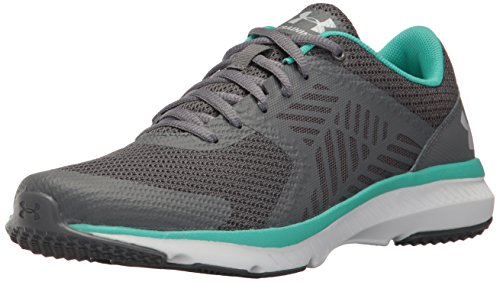 Under Armour Ua W Micro G Press Tr, Zapatillas de Deporte Exterior para Mujer Gris (Rhino Gray 076)