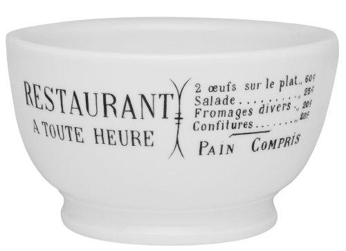 Pillivuyt Brasserie Café Au Lait Bowl, 13 Ounce Capacity