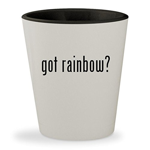got rainbow? - White Outer & Black Inner Ceramic 1.5oz Shot - Reading Las Glasses Vegas