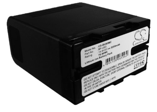 Cameron Sino 5200 mAh / 76.96whバッテリーと互換性Sony pmw-ex1、pmw-ex3、pmw-ex1r、pmw-f3、pmw-f3l、pmw-f3 K、pmw-100、pmw-150、pmw-160 and others   B01MA2W390