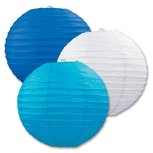 Paper Lanterns (Blue/White/Torquoise) 9.5