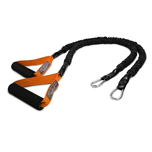 FitCord X-Over Resistance Bands - Premium Exercise Cords for Crossfit, Shoulder & Arm Care, Muscle Performace, Sports, Rehab Workouts - 1 Pair - 7lbs - Orange