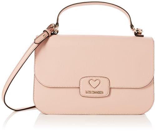 Y Borsa Rosa De Rosa Moschino H Pu T Cm Mujer b pink Bolsos Shoppers Hombro Calf 10x21x33 Love X Y845qA