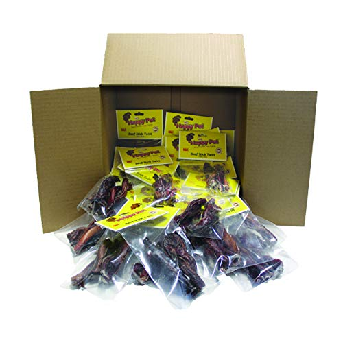Happy Pet Beef Stick Dog Treats Twists Includes 2 Beef Twists and Every Box Includes 24 Packages