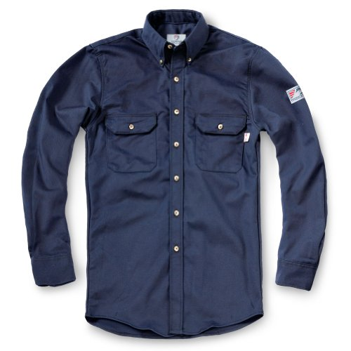 Tyndale Men's FRC Classic Work Shirt MEDIUM Navy Blue