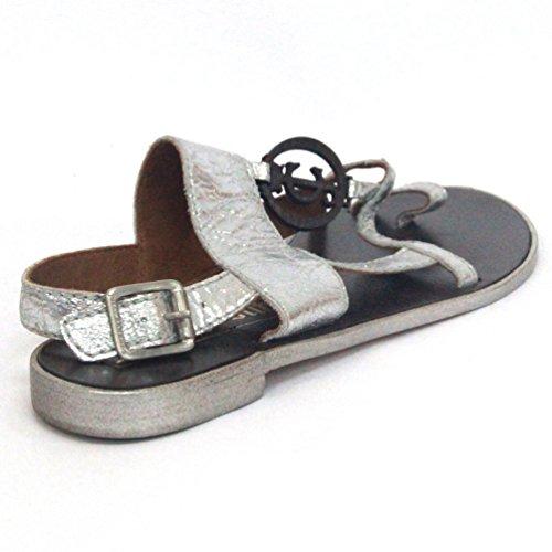 Sandalias metálicas Juicy Couture, estándar del Reino Unido 3,5, de £115 Plata - plata
