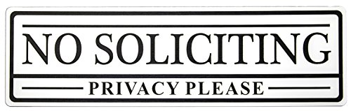 No Soliciting Privacy Please Sign (White) - Small