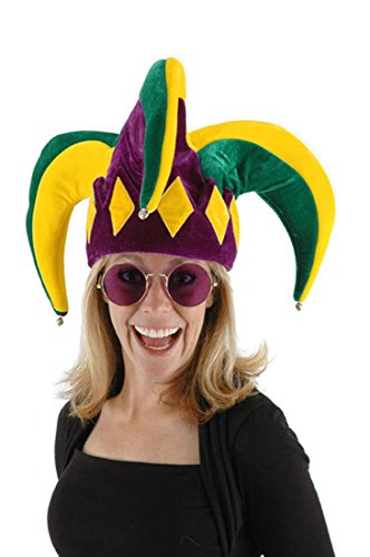 Renaissance Jester Or Clown Costumes (elope Royal Court Jester Hat, Multi, One Size)