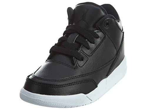 Jordan Kids Retro 3 (p) Dark Powder Blue / White-black 429487-406 Black / Black-white