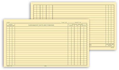 Single Sheet Continuation Exam Records