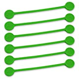 TwistieMag Strong Magnetic Twist Ties - The Green With Envy Collection - Green 6 Pack - Super Powerful Unique Solution For Cable Management, Hanging & Holding Stuff, Fidget Toy, Or Just For Fun!