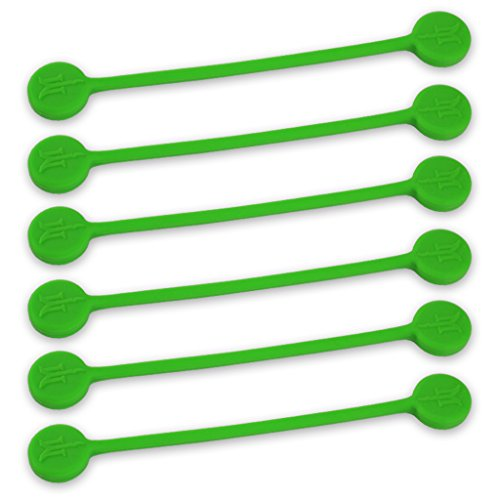 TwistieMag Strong Magnetic Twist Ties - The Green with Envy Collection - Green 6 Pack - Super Powerful Unique Solution for Cable Management, Hanging & Holding Stuff, Fidgeting, Or Just for Fun!