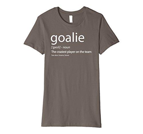 Goalkeeping Graphic Jersey (Womens Goalkeeper Shirt Goalie Definition Tshirt Ice Hockey Soccer Large Asphalt)
