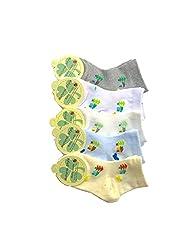 5 Pairs Emmas Style Kids Cute Cartoon Cotton Mesh Socks