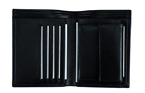 Alassio - 42144 - Kombibörse Hochformat mit Ziernaht, Echtes Leder, schwarz