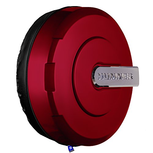 33'' Hummer H3 Xtreme Tire Cover - Color Matched - (Hard Plastic Face & Vinyl Band) - Sonoma Red Metallic by Boomerang