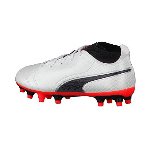 Puma One 17.4 FG Jr, Zapatillas de Fútbol Unisex Niños White - Black - Coral