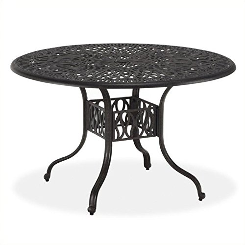 Home Styles Floral Blossom Round Dining Table, 48-Inch, ()