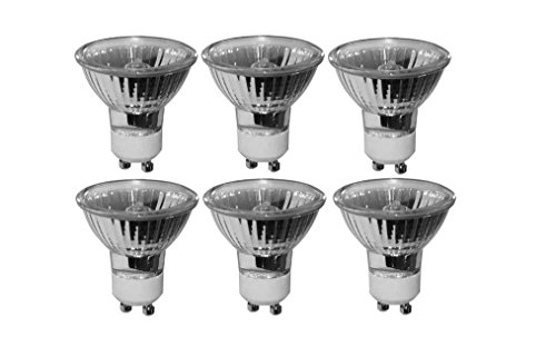 Pack of 6 20 Watt MR16 GU10 Turn Lock Base Halogen Bulb 120 Volt 20w GU10 Halogen Light Bulb